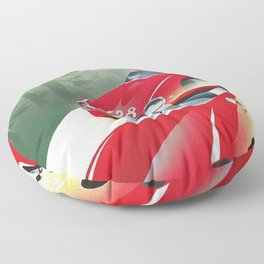 Vintage Italian Roadster Racing Targa Florio Sports Car Poster Floor Pillow