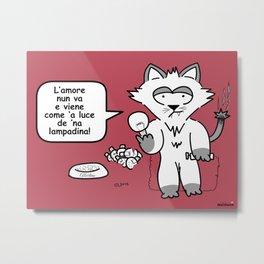 the wise cat - love Metal Print
