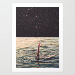 Drowned in space Art Print