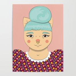 Cool Girl Cat Poster