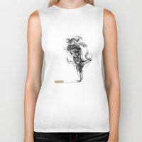 cancer Biker Tanks featuring CANCER by Mikayla Duyvestyn