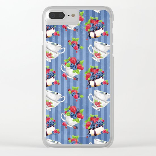 Berries Pattern 06 Clear iPhone Case