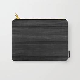 Black Wood Panel Carry-All Pouch