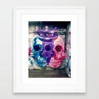 skulls Framed Art Prints featuring Skulls by very giorgious