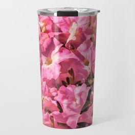 Vintage Pretty Pink Petunias Travel Mug