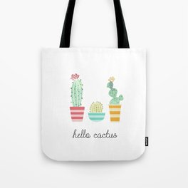 Hello Cactus Tote Bag