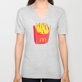 Bloody French Fries Unisex V-Neck