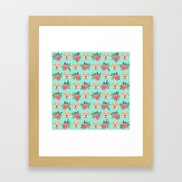 Yellow Labrador Retriever floral bouquet flowers yellow lab dog breed pattern gifts Framed Art Print