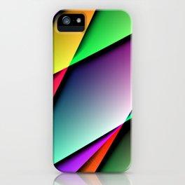 Triangle Gradient Colorful Design iPhone Case
