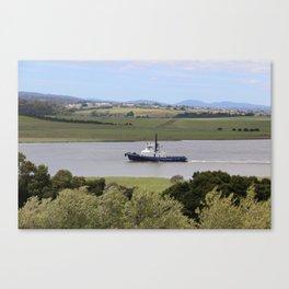 Tug Motoring Down the Tamar* Canvas Print