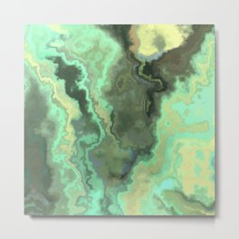 Abstract Marble Texture 356 Metal Print