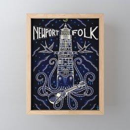 Tribute 1959 Newport Folk Festival - Fort Adams, Newport, Rhode Island portrait painting Framed Mini Art Print