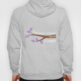 Domestic Violence Awareness Purple Survivor Tee Hoody