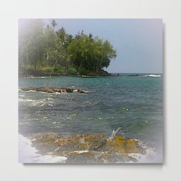 Lyman's Beach, Kona, Hawaii Metal Print