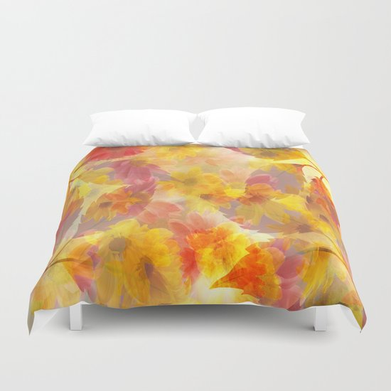 Changing Seasons Abstract Duvet Cover