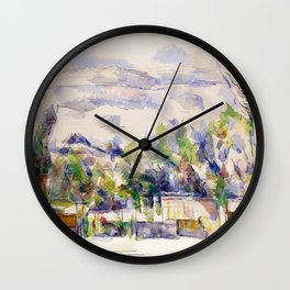 1902 - Paul Cezanne - Mont Sainte-Victoire Wall Clock