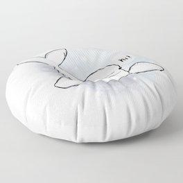 Beluga Greeting Floor Pillow