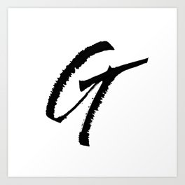 Letter G Ink Monogram Art Print