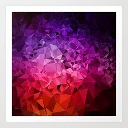 Ultra Violet Diamond Rainbow Art Print