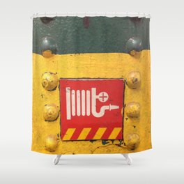 NYC Underground-Fire Hose Shower Curtain