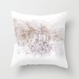 Palace Chandelier Lavender Throw Pillow