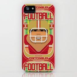 American Football Red and Gold - Enzone Puntfumbler - Seba version iPhone Case