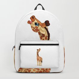 Cute little giraffe. Vector graphic character Backpack