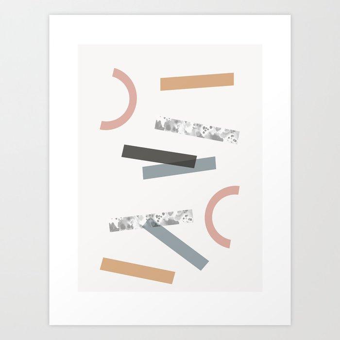 Sibyl - modern abstract earthtones minimalist art print, geometric  minimalist art print Art Print by oliviastjames