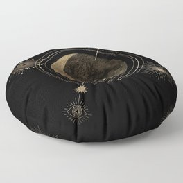 Orient Yourself with Moon  Floor Pillow
