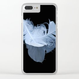 White feather reflection Clear iPhone Case