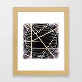 Crossroads -3D circle Framed Art Print