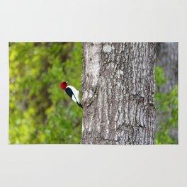 Red Head Bird Rug