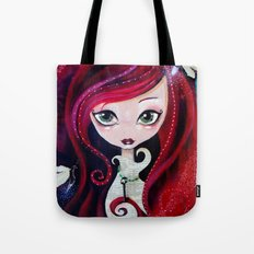 Red Portrait Tote Bag