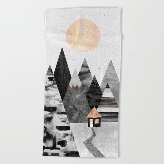 Little Cabin Beach Towel