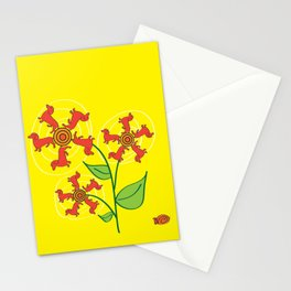 Doxie Flower Stationery Cards
