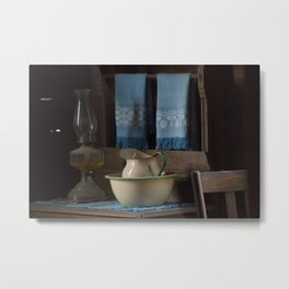 Pitcher and Bowl on a Dresser Metal Print