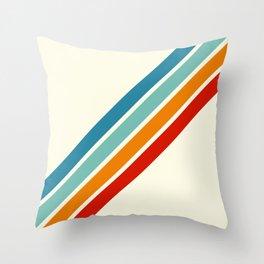 Alator - Classic 70s Retro Summer Stripes Throw Pillow