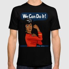 UHURA: WE CAN DO IT! MEDIUM Black Mens Fitted Tee