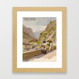 Vintage poster - Fernet-Branca Framed Art Print