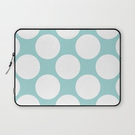 Polka Dots Blue Laptop Sleeve