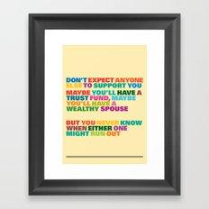 Trust Fund Framed Art Print
