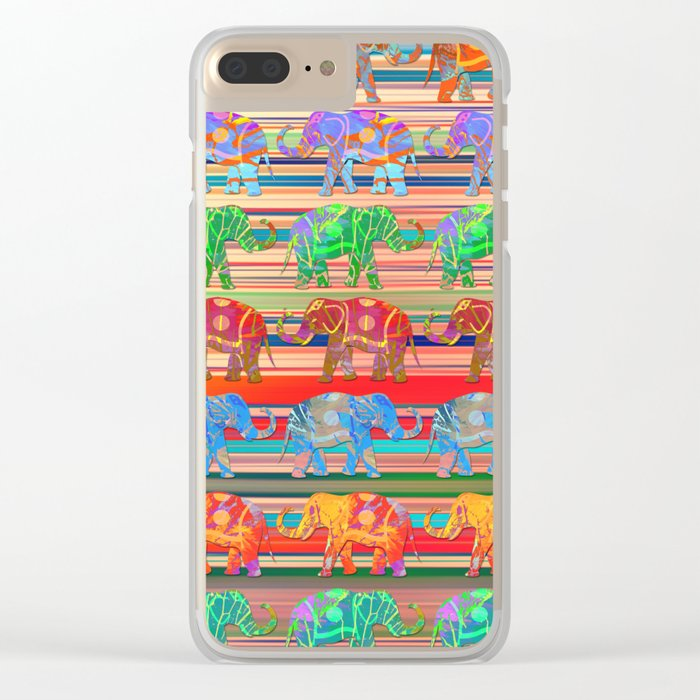 Elephant pattern Clear iPhone Case
