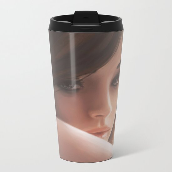 A girl Metal Travel Mug