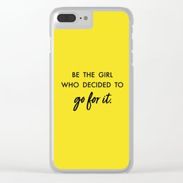 Go. Get it girl! Clear iPhone Case