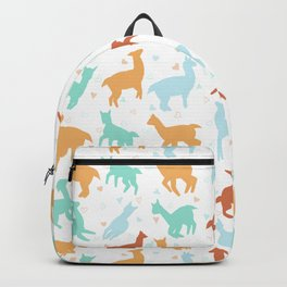 Llamas pastel pattern. Vector illustration background  Backpack