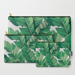 Tropical banana leaves V Carry-All Pouch