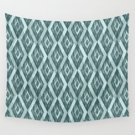 Pine and Mint Ikat Wall Tapestry