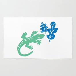 The Green Gecko Rug