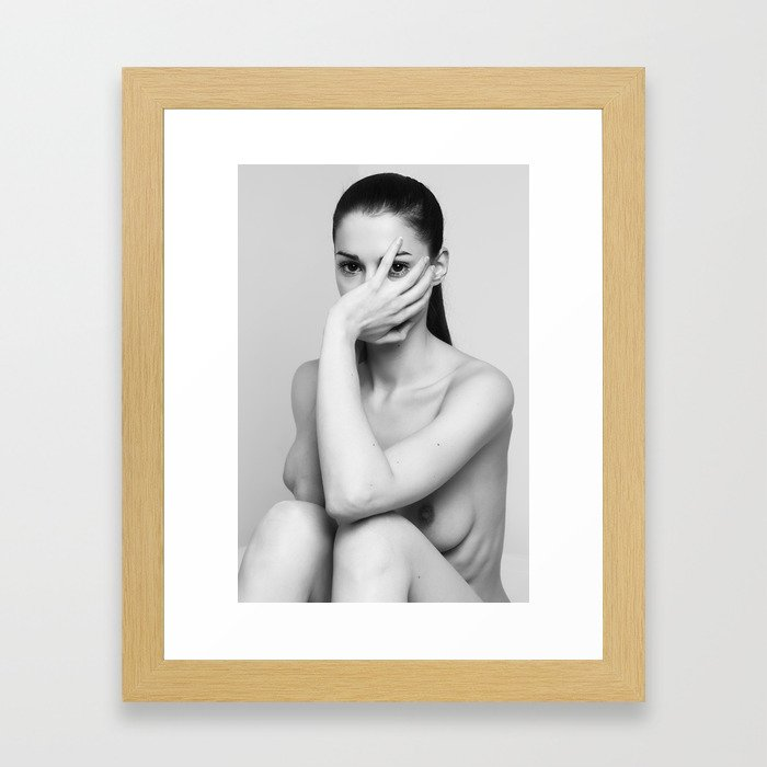 Hide me Framed Art Print