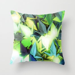 Senbazuru | yellows n blues  Throw Pillow